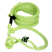 Kinetic Recovery Rope UTV 1/2 Inch x 10 Foot (12.7mm x 3m) W/2 Soft Shackle Ends Green VooDoo Offroad