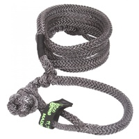 Kinetic Recovery Rope UTV 1/2 Inch x 16 Foot (12.7mm x 4.8m) W/2 Soft Shackle Ends Black VooDoo Offroad