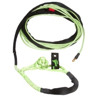 Winch Rope UTV 1/4 Inch x 50 Foot (6mm x 15m) W/ Soft Shackle End Green VooDoo Offroad