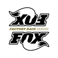 "Fox 3.0"" Factory Race Series Shock Black Logo Reservoir Stickers With Clear Background 8-5/8"" x 9"""