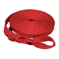 Kartek Off-Road 1 Inch Wide 50 Feet Long Red Woven Recovery Tow Strap Rated at 4500 kg /10,000 Pounds