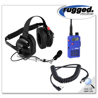 VHF/UHF RH-5R 5-Watt Radio and Headset Crew Chief/Spotter Package